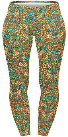 Mandala Llama Plus Leggings-Wholesale Women's Leggings, Wholesale Plus Size , Wholesale Fashion Clothing