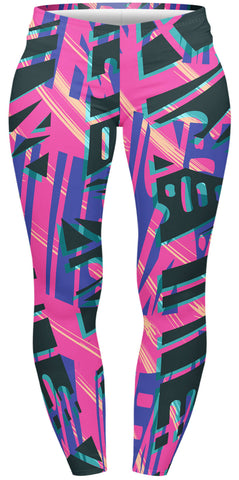 Geo Tribal Pop Plus Leggings-Wholesale Women's Leggings, Wholesale Plus Size , Wholesale Fashion Clothing