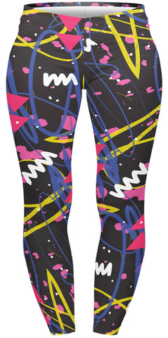 Sketch Neo Pop Plus Leggings-Wholesale Women's Leggings, Wholesale Plus Size , Wholesale Fashion Clothing