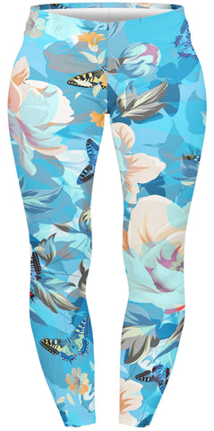 Floral Garden Plus Leggings-Wholesale Women's Leggings, Wholesale Plus Size , Wholesale Fashion Clothing