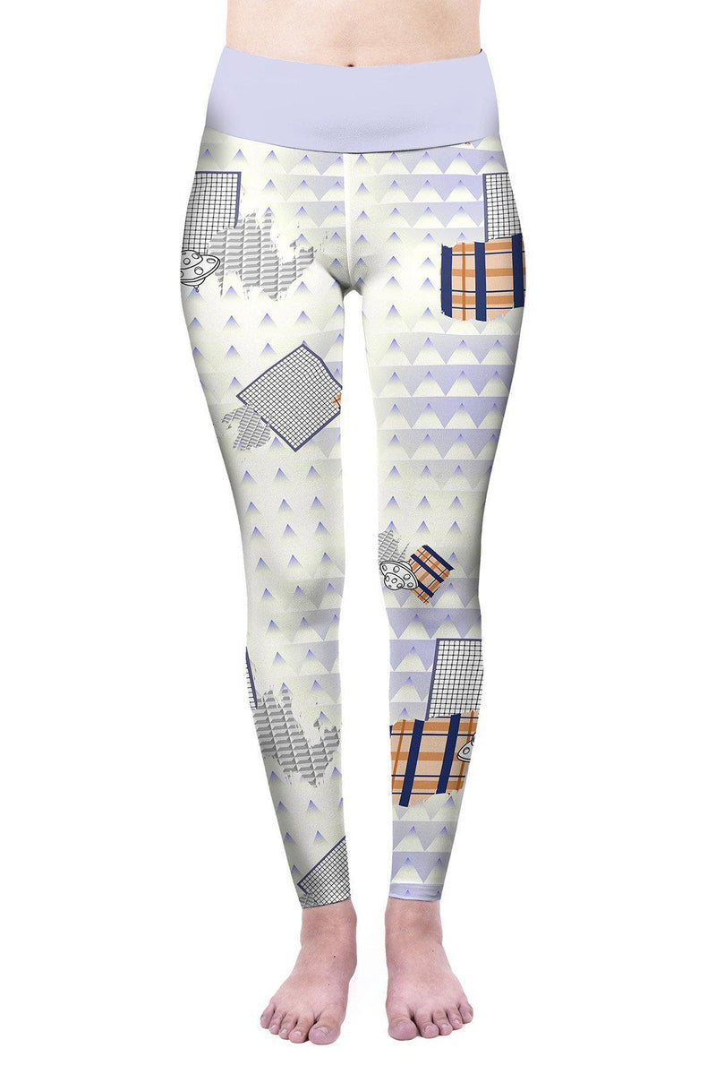 Geometric Space Friends High Waisted Leggings-Wholesale Leggings UK- Wholesale Women's Clothing- Kukubird Creative Studio