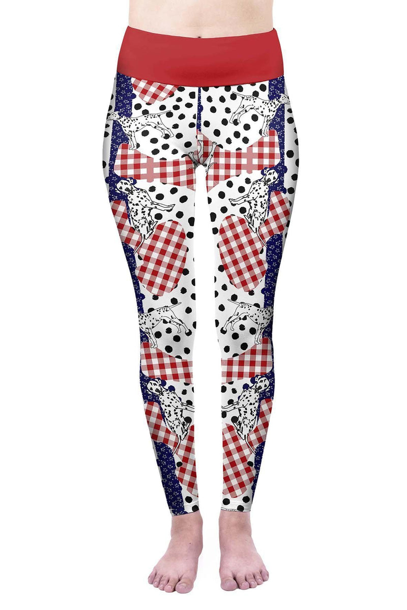 Spot The Dalmatian High Waisted Leggings-Wholesale Leggings UK- Wholesale Women's Clothing- Kukubird Creative Studio