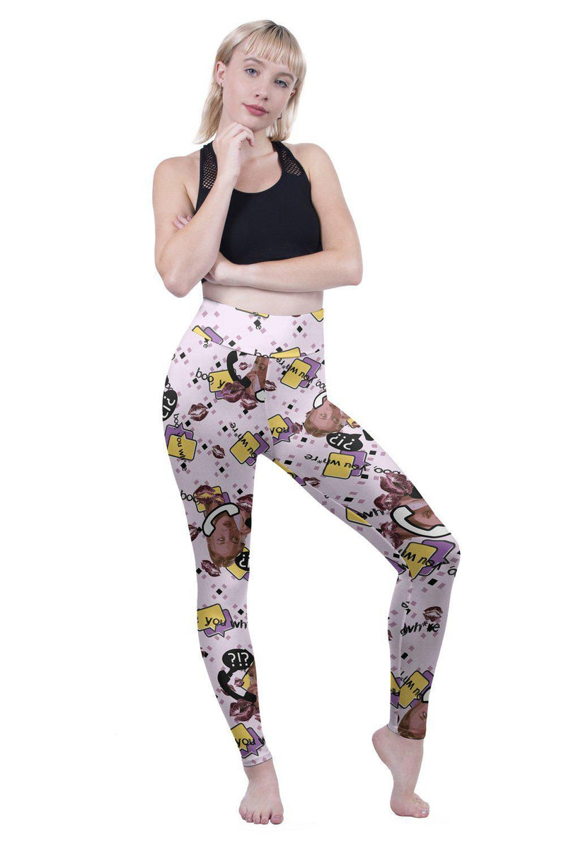 BOO You Where High Waisted Leggings-Kukubird Creative Studio