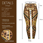Baroque Leopard High Waisted Leggings-Wholesale Women's Leggings, Wholesale Plus Size , Wholesale Fashion Clothing