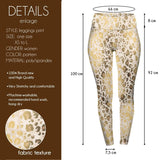 Gold Shimmer Leopard High Waisted Leggings-Wholesale Women's Leggings, Wholesale Plus Size , Wholesale Fashion Clothing