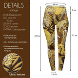 Golden Tropical Leopard High Waisted Leggings-Wholesale Women's Leggings, Wholesale Plus Size , Wholesale Fashion Clothing