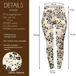 Sandy leopard Print High Waisted Leggings-Wholesale Leggings UK- Wholesale Women's Clothing- Kukubird Creative Studio