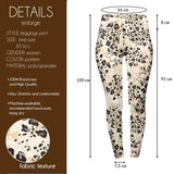 Sandy leopard Print High Waisted Leggings-Wholesale Women's Leggings, Wholesale Plus Size , Wholesale Fashion Clothing