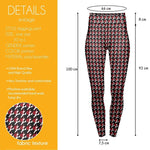 Blood Houndstooth High Waisted Leggings-Wholesale Women's Leggings, Wholesale Plus Size , Wholesale Fashion Clothing