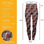 Red Scribble Check High Waisted Leggings-Wholesale Women's Leggings, Wholesale Plus Size , Wholesale Fashion Clothing