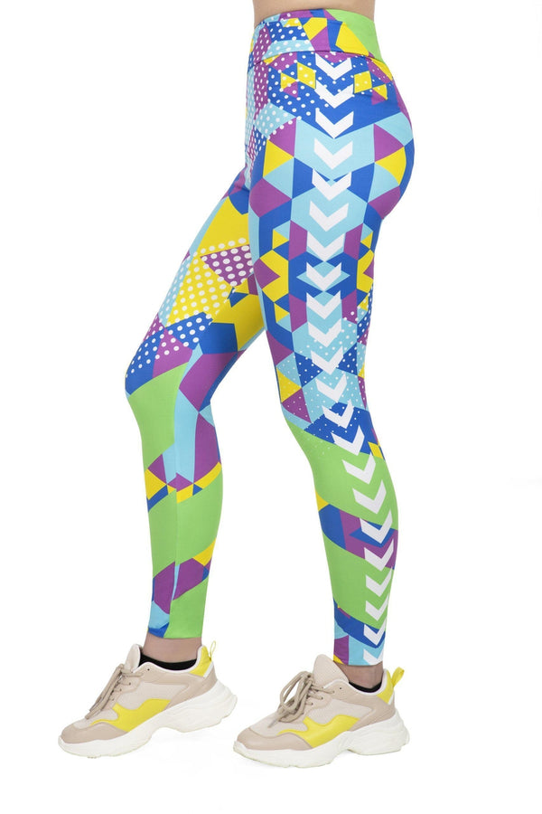 Geo Cubic High Waisted Leggings