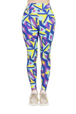 Neon Mosaic High Waisted Leggings-Wholesale Women's Leggings, Wholesale Plus Size , Wholesale Fashion Clothing