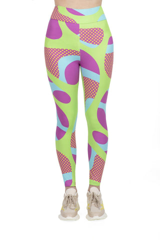 Squiggle Pop High Waisted Leggings-Wholesale Women's Leggings, Wholesale Plus Size , Wholesale Fashion Clothing