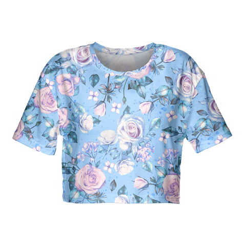 Flowers for Adriana Crop T-shirt