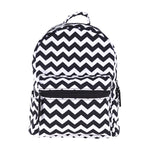 Zig Zag Black Mini Backpacks-Wholesale Women's Leggings, Wholesale Plus Size , Wholesale Fashion Clothing