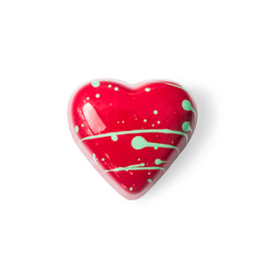 milk strawberry heart truffle