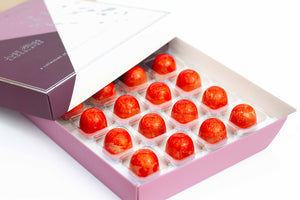 Salted Caramel Vodka Quarantini Chocolate Truffles 16 piece box