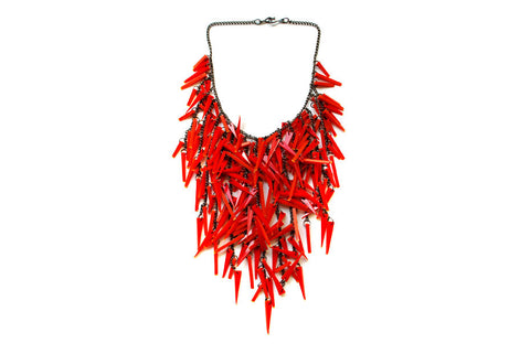 Fire necklace Red