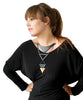 Tribe Necklace Black n' Bamboo