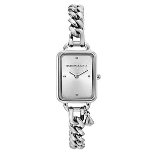 BCBGMAXAZRIA QUARTZ SILVER STAINLESS STEEL BG50845001 WOMEN'S WATCH