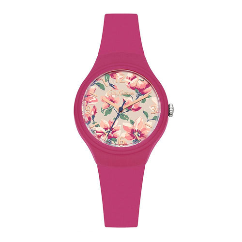 CATH KIDSTON QUARTZ MAGNOLIA CKL029P DARK PINK SILICONE STRAP LADIES WATCH