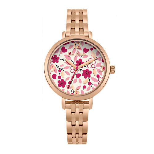 CATH KIDSTON RED FLORAL ALLOY CKL037RGM WOMEN'S WATCH