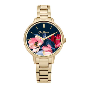 CATH KIDSTON QUARTZ PAINTBOX FLOWERS GOLD STAINLESS STEEL CKL050GM LADIES WATCH