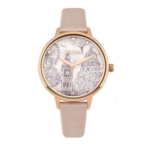CATH KIDSTON QUARTZ LONDON TOILE ROSE GOLD ALLOY CKL053PRG METALLIC PU STRAP LADIES WATCH