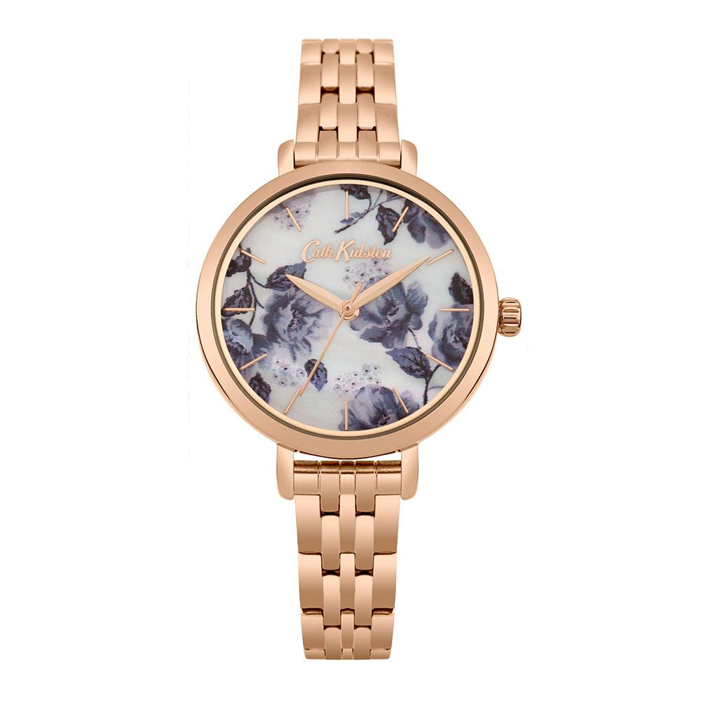 CATH KIDSTON QUARTZ MID WILD POPPIES ROSE GOLD STAINLESS STEEL CKL060RGM LADIES WATCH