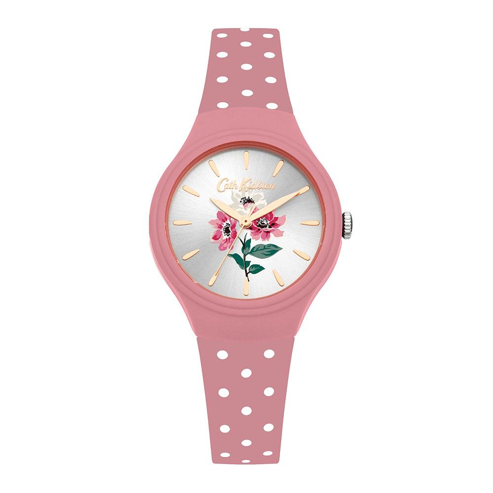 CATH KIDSTON QUARTZ ANEMONE BOUQUET PINK SILICONE CKL066P PINK LADIES WATCH