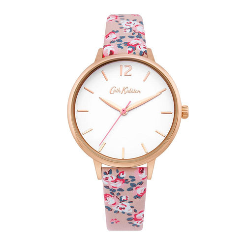 CATH KIDSTON QUARTZ PINK FLORAL ALLOY CKL067PRG WOMEN'S WATCH