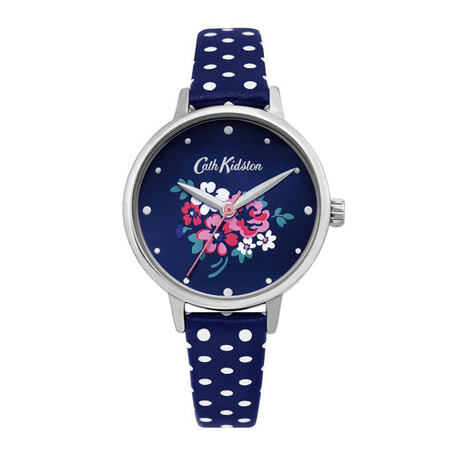 CATH KIDSTON NAVY FLORAL ALLOY CKL070U WOMEN'S WATCH