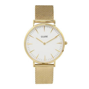 CLUSE LA BOHEME QUARTZ GOLD STAINLESS STEEL CL18109 MESH STRAP LADIES WATCH