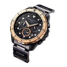 Load image into Gallery viewer, ARIES GOLD CHRONOGRAPH ATLANTIC BLACK STAINLESS STEEL G 7002 BKRG-BK MEN'S WATCH