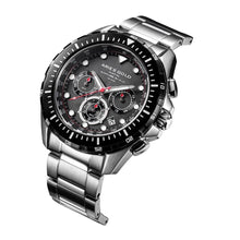 Load image into Gallery viewer, ARIES GOLD CHRONOGRAPH ATLANTIC SILVER STAINLESS STEEL G 7002 SBK-BK MEN'S WATCH