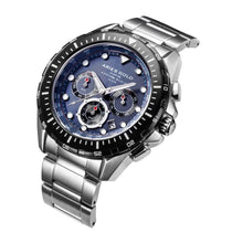 Load image into Gallery viewer, ARIES GOLD CHRONOGRAPH ATLANTIC SILVER STAINLESS STEEL G 7002 SBK-BU MEN'S WATCH