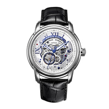 Load image into Gallery viewer, ARIES GOLD AUTOMATIC INFINUM EL TORO SILVER STAINLESS STEEL G 9005 S-S BLACK LEATHER STRAP MEN'S WATCH
