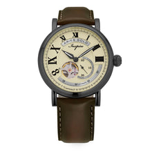 Load image into Gallery viewer, ARIES GOLD AUTOMATIC INSPIRE GAUNTLET VINTAGE TUNGSTEN STAINLESS STEEL G 903 TS-BEI BROWN LEATHER STRAP MEN'S WATCH