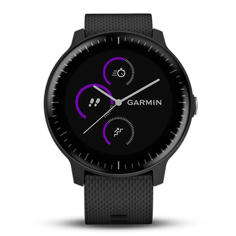 GARMIN VIVOACTIVE 3 MUSIC BLACK & SILVER GM-010-01985-25 SMARTWATCH