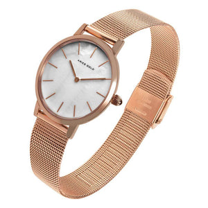 ARIES GOLD COSMO ROSE GOLD STAINLESS STEEL L 1024 RG-MP MESH STRAP WOMEN'S WATCH