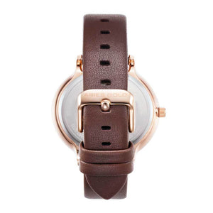 ARIES GOLD ENCHANT FLEUR ROSE GOLD STAINLESS STEEL L 5035 RG-MP LEATHER STRAP WOMEN'S WATCH