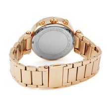 Load image into Gallery viewer, MICHAEL KORS PARKER ROSE GOLD TONE GLITZ MK5491 WOMEN'S WATCH