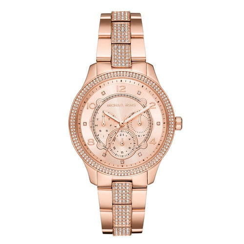 MICHAEL KORS RUNWAY ANALOG QUARTZ ROSE GOLD STAINLESS STEEL MK6614 WOMEN'S WATCH