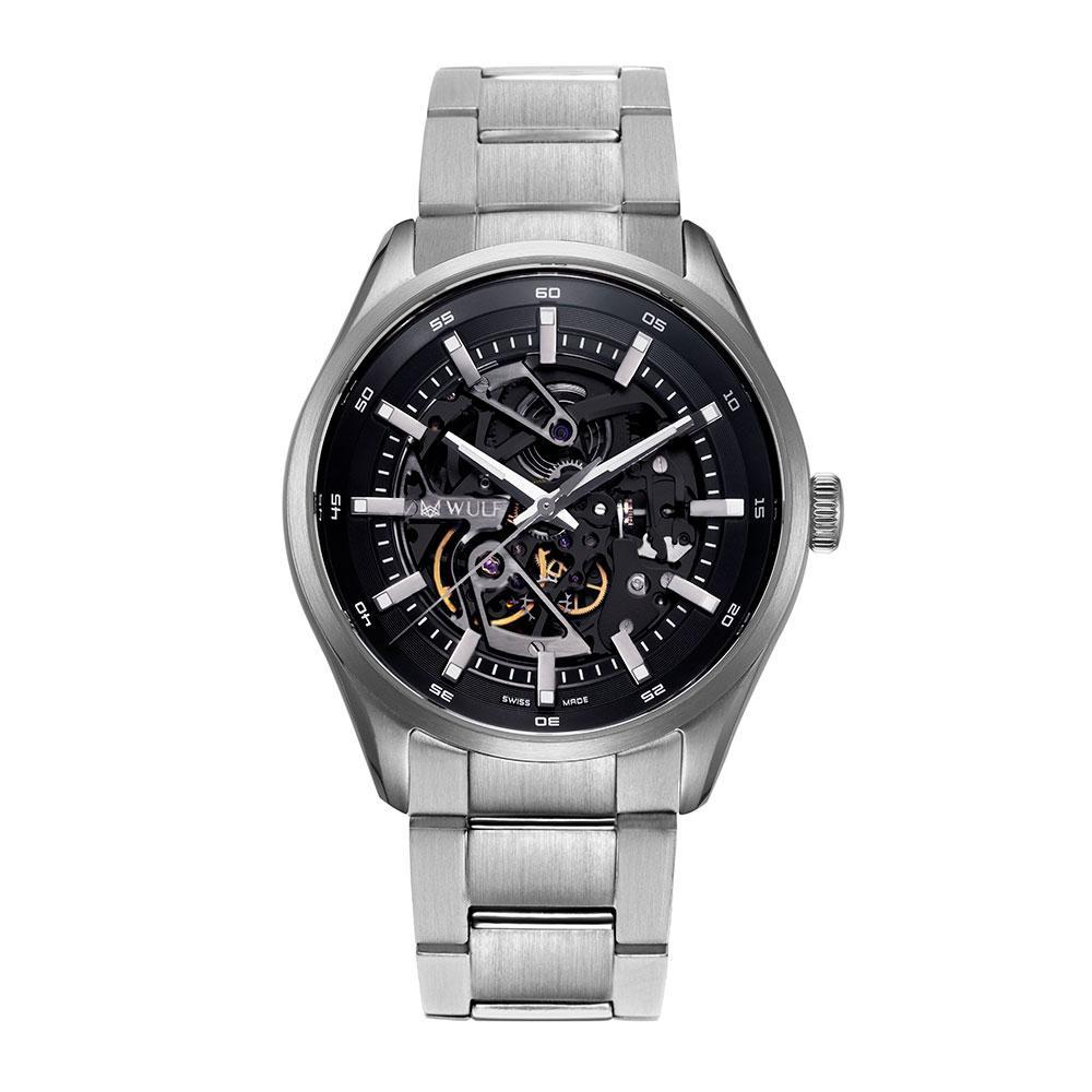 WULF EXO-X WF02.06M SWISS MECHANICAL BRACELET MEN'S WATCH