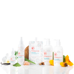 <b>THE QUEEN SET</b> <br>Vanilla Boost Treatment + Elixir + Texture Spray + Peach Paradise Shampoo + Conditioner