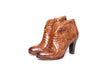 Bottega di Lisa Cognac Python High Heel Booties