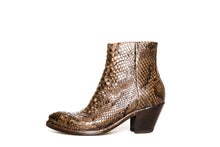 Load image into Gallery viewer, Bottega di Lisa Brown/Grey Python Booties