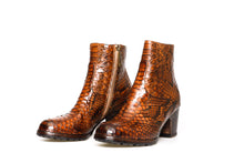 Load image into Gallery viewer, Bottega di Lisa Cognac Python Booties