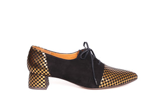 Chie Mihara Roly Black Golden Shoes