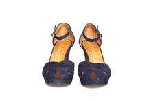 Load image into Gallery viewer, Chie Mihara YULCINEA blue heel shoes